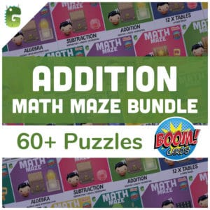 Addition Math Maze Bundle Cover