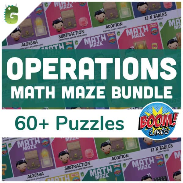 Operations Math Maze Bundle Cover