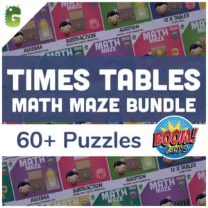 Times Table Math Maze Bundle Cover