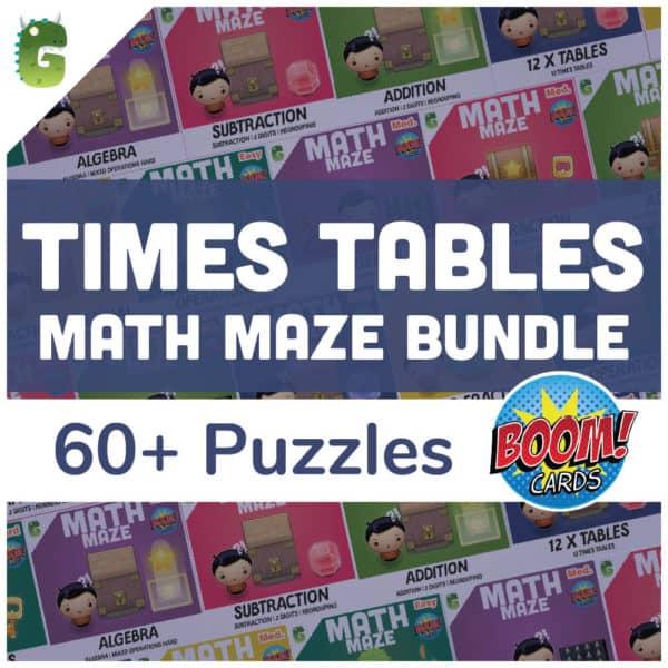 Times Table Math Maze Bundle Cover